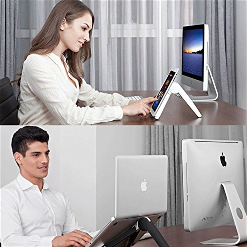 Adjustable Laptop Stand Mount And Lap Desk With Cooling For Macbooks And Notebook Laptops