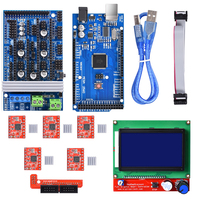 Ramps 1.6 Upgrade Ramps 1.4 Ramps 1.5 +A4988 DRV8825 Stepper Motor Driver+Mega 2560 R3 Reprap Mendel+12864 LCD For 3D Printer