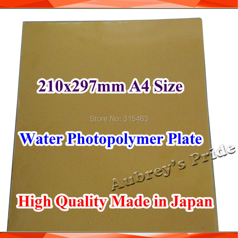 US $29 9 |210x297mm A4 Size Water Washable for Pad Printing Hot Foil  Stamping CliChe Making UV Exposure Photopolymer Printing Plate Mold-in  Tools from