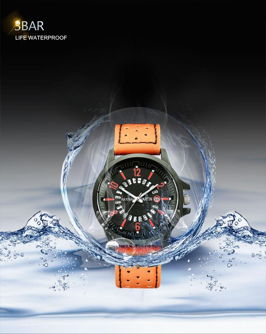 HTB1X.4caiDxK1Rjy1zcq6yGeXXaJ Men Wrist Watch Leather Casual Waterproof Calendar
