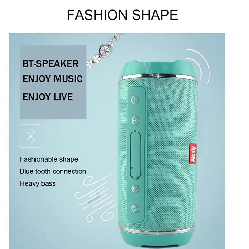 wireless 10w waterproof bluetooth speaker with high power boombox and fm