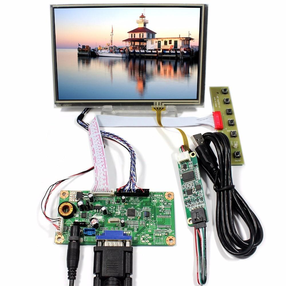 VGA LCD Control Board With 7inch 1280x800 N070ICG-LD1 Touch LCD Screen tv hdmi vga av usb audio lcd control board with 7inch 1280x800 n070icg ld1 touch lcd