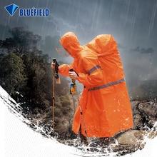 ブルーフィールドの屋外レインコートバックパックカバーワンピースレインコートポンチョ雨岬屋外ハイキングキャンプジャケットユニセックス雨具