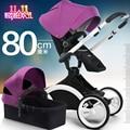 Белая рамка-Babysing Высокой пейзаж Роскошная прогулочная коляска младенца с люльки, 2 в 1,360 градусов вращения коляска/коляска