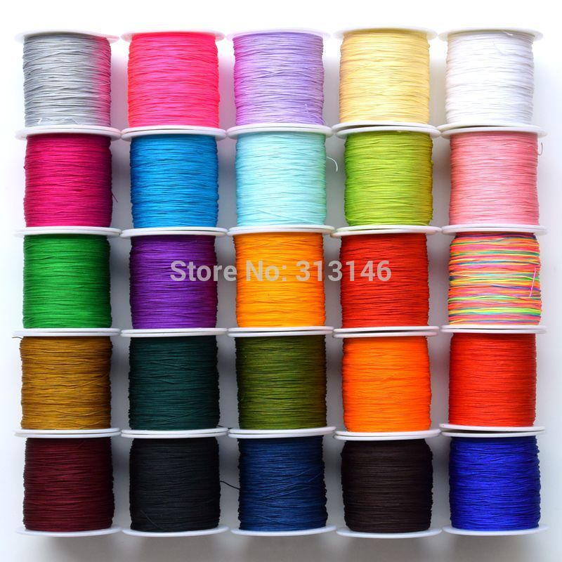 Wholesale 150M/Spool Thin 0.5MM Mix Color Nylon Black Chinese Knotting Macrame Cord Braided DIY Beading Shamballa String Thread