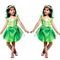 Fancy Masquerade Party Tinker Bell Girl Children Cosplay Dance Dress Costumes for Kids Green Halloween Clothing Lovely Dresses