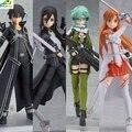 Anime Espada Arte Online Kirito Asuna Figura Figma PVC Figura de Acción de Colección Modelo de Juguete para niños