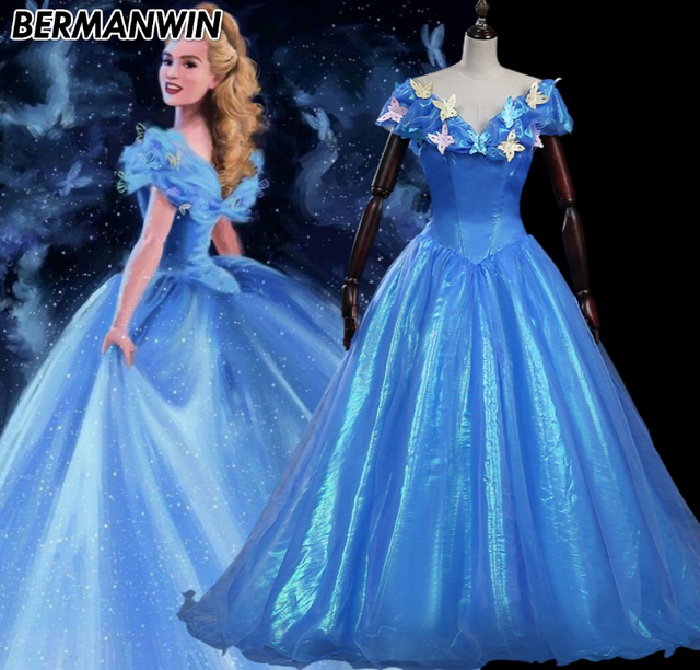 Princess Cinderella Wedding Dress Costume For: Aliexpress.com : Buy BERMANWIN High Quality Movie 2017