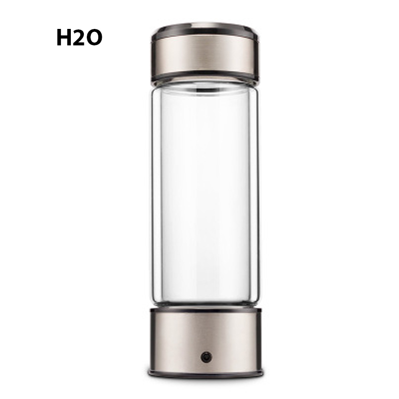 Rechargeable Rich Hydrogen Water Generator electrolysis Energy Hydrogen-rich Antioxidant ORP H2 Water Ionizer Glass Bottle cup usb rechargeable intelligent hydrogen rich water bottles ionizer portable glass maker ionizer generator 350ml super antioxidants