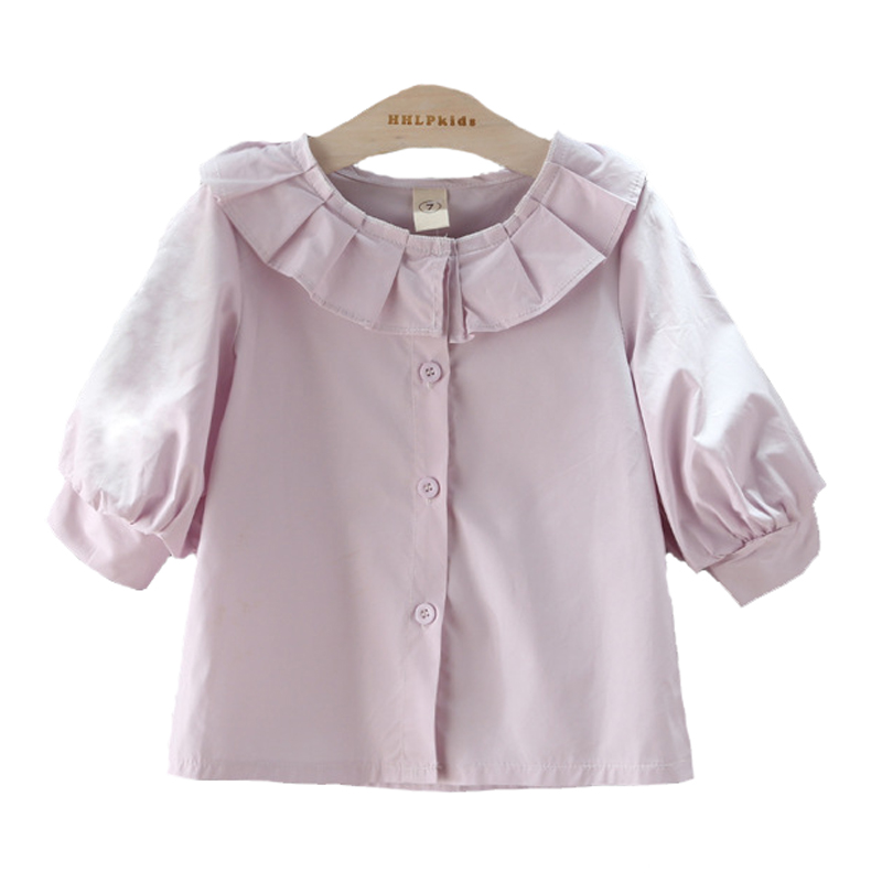 Summer Toddler Girl Clothes shirt 2017 Fashion He Yebian Pink Girl Toddler Clothes Shirt Summer Brand Cardigan Kids Top Shirt
