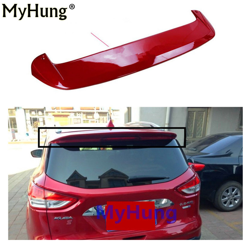 Car Spoiler ABS Primer Unpainted Factory Style Spoiler Rear Wing Spoiler for Ford Kuga Escape 2013 2014 2015 car styling unpainted rear roof lip spoiler wing for bmw e87 e81 2004 2011