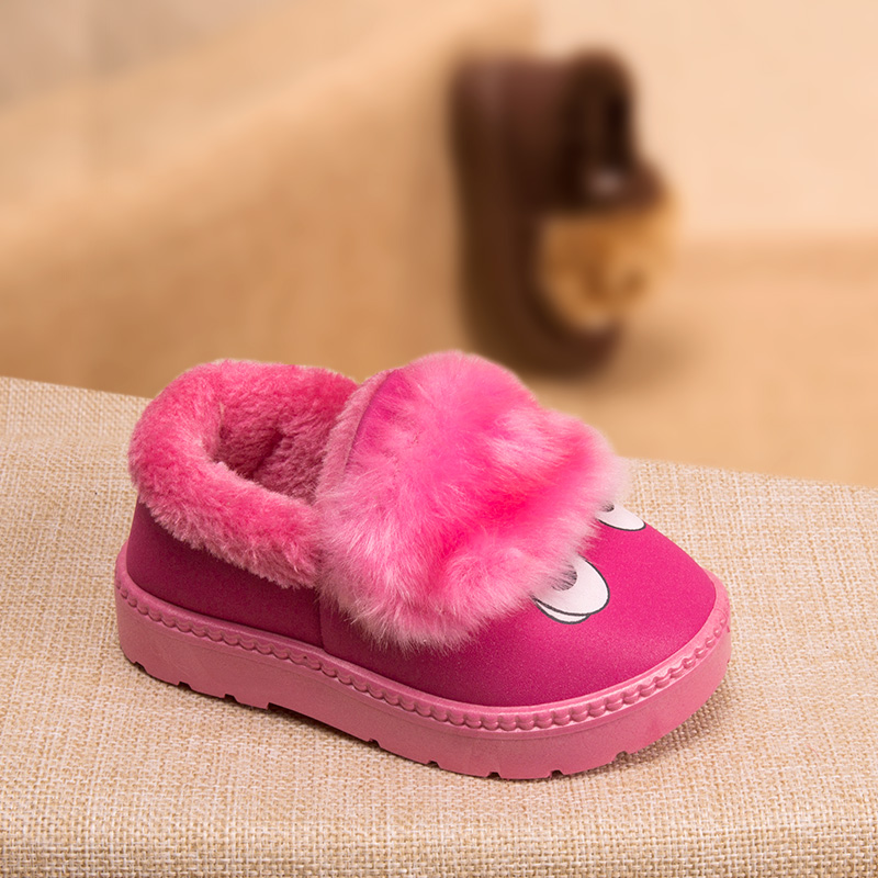 Phynier Cotton slippers girls bag with slippers home warm indoor slippery plush slippers boys cotton shoes baby winter shoes