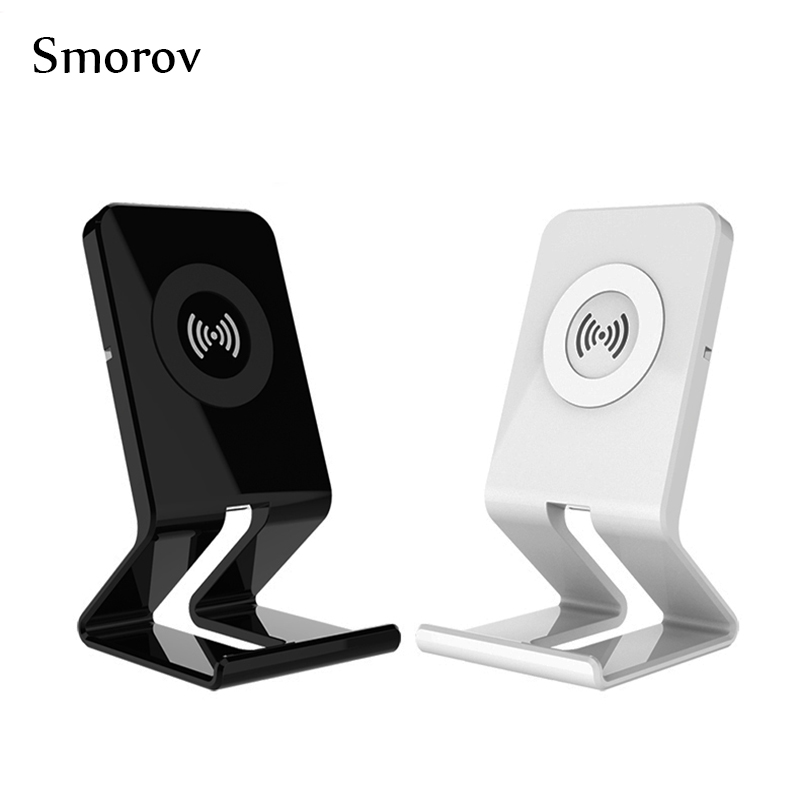 QI Standard Chargeur Sans Fil Pour Iphone 8 Iphone X Samsung S8 S7 bord S6 Bord Note 8 Stand Style 5 V 1A Sortie Sans Fil Chargeur