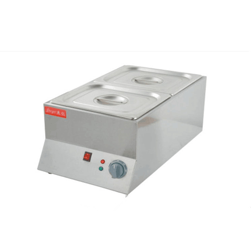 220V Commercial Electric Chocolate Melting Furnace 2 Trays Stainless Steel Melting Stove Pot 2 Cylinder single cylinder commercial chocolate melting machine fy qk 620 stainless steel chocolate melting pot 220v 1pc