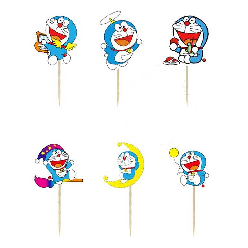 New 24pcs Cartoon Cup Cake Toppers For Kids Children