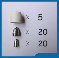 Free shipping 45Pcs P80 Panasonic Air Plasma Cutting Cutter Torch Consumables, Plasma TIPS,Nozzles Plasma Electrodes accessories warrior free shipping 50pcs p80 consumable tips electrodes shield cups for air plasma cutter cutting machine p 80