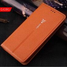 Роскошный оригинальный бренд gebei кожа флип уникальный магнит дизайн стенд case cover для samsung galaxy s6 s7 edge s8 plus s 6 7 8