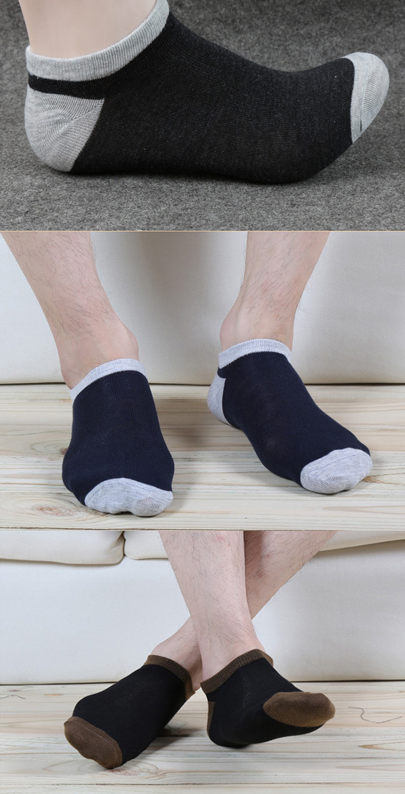5 Pairs Men Ankle Socks Vitange Breathable Spring Summer Male Low Cut Sock All Match Patchwork Fashion Casual Durable Boys Meias Underwear & Sleepwears