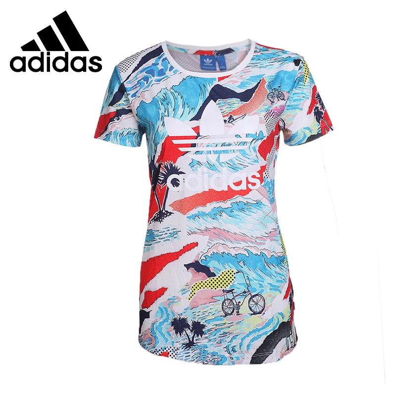 Original New Arrival 2017 Adidas  Originals TREFOIL Women's  T-shirts short sleeve Sportswear