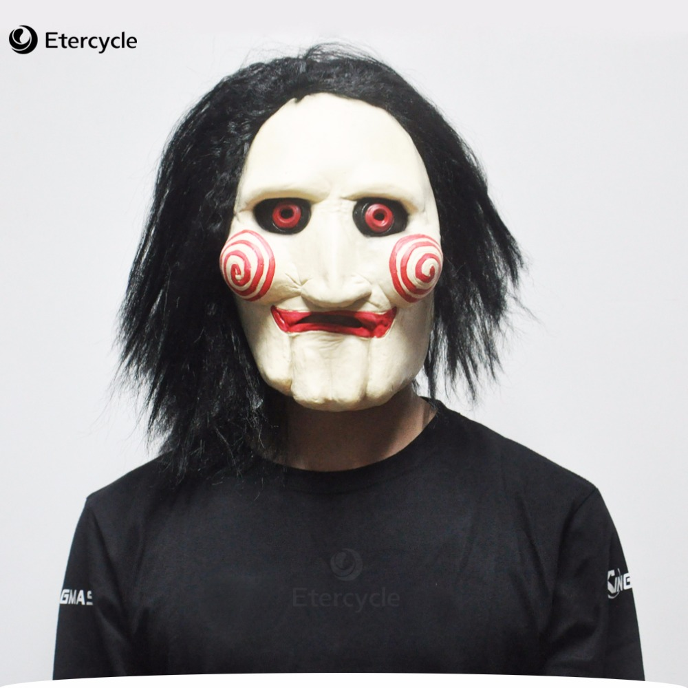 Scary Saw Masken Horrorfilm Cosplay Requisiten Erwachsene Latex Jigsaw Maske Party Kostüm