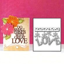Eastshape Hanging Love Metal Cutting Dies for Scrapbooking Heart Craft Cards Making Letter Die Cut Album Embossing
