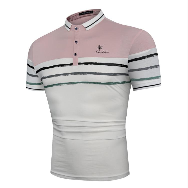 MarKyi fashion striped luxury   polo   shirt mens good quality mens cotton   polo   shirts slim fit short sleeve embroidered   polo   shirt