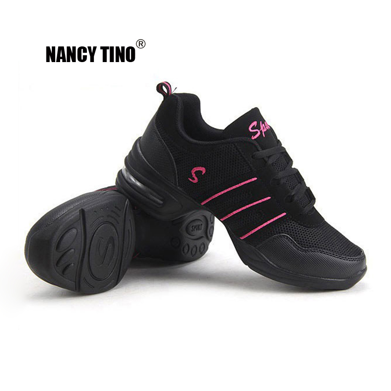 NANCY TINO Sports Feature Soft Outsole Breath Dance Shoes Sneakers For Woman Practice Shoes Modern Dancing Jazz Shoes