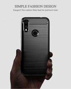 Image 2 - คาร์บอนไฟเบอร์ซิลิโคนโทรศัพท์กรณีสำหรับ Xiaomi Redmi S2 y2 Y3 เส้นใยกันกระแทก TPU ปกหลัง Xiaomi RedmiS2 Redmiy2 Redmiy3 Y 3 S 2 กรณี