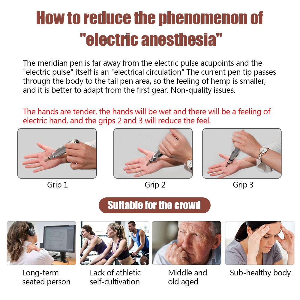 Купить с кэшбэком Electric Acupuncture Pen Electronic Meridian Energy Body Massager Pain Relief Therapy Instrument massage relaxation