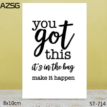 AZSG you got this Clear Stamps For DIY Scrapbooking/Card Making/Album Decorative Silicon Stamp Crafts