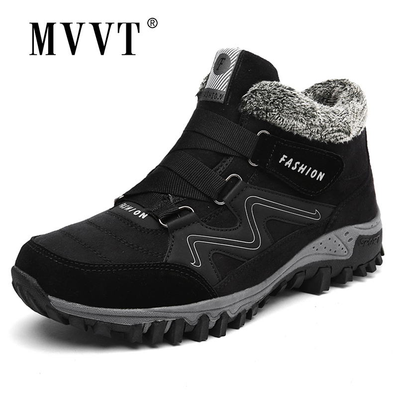 Super Warm Men Winter Boots Unisex Quality Thickest Snow Boots Men Warm Waterproof Winter Shoes Men's Ankle Boots With Fur