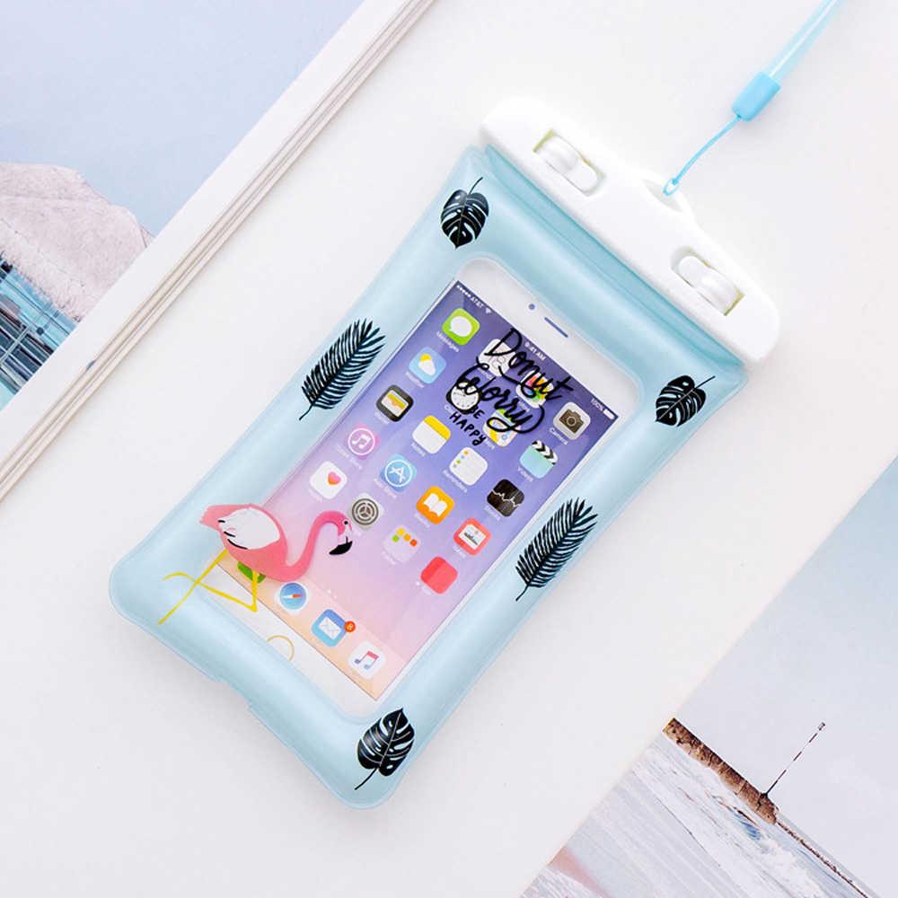 Универсальный чехол для телефона с единорогом, мультипликационным фламинго, портативный чехол для дайвинга, чехол с воздушной подушкой для iPhone X, 7, 8 Plus, 6, 6 S, S8, S9, DH16