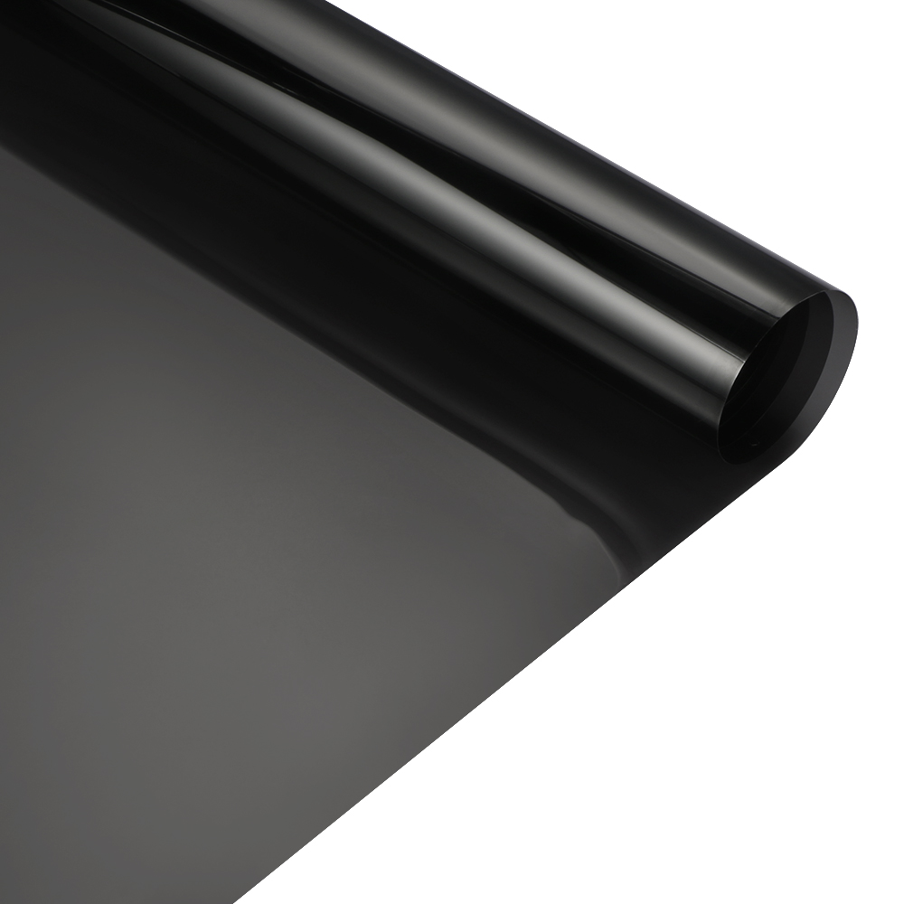 50x 400cm Light Black Car Window Tint Film Glass VLT 20% 2PLY Car Auto House Commercial Decorative Film Privacy Window Tint the window office paper sticker pervious to light do not transparent bathroom window shading white frosted glass tint