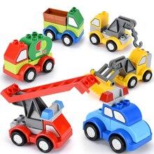 Forklift Crane Car Big size Building Blocks Collocation Vehicle Accessory Children DIY Toys Bricks