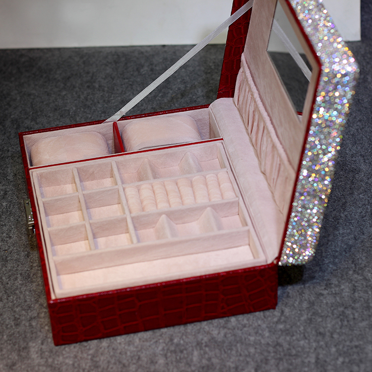 High-grade jewelry boxes watch boxes storage box with crystals Watch case Ring box Wedding gifts