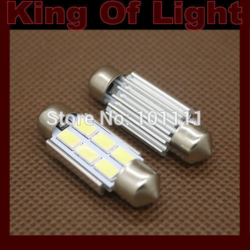 4x Canbus C5W Festoon 6 led smd 5630 5730 High power 31mm 36mm 39mm 41mm obc error free no error Free shipping