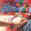 ABL0251 (100), Bohemian Brasil Barato Colorful Rainbow Artesanal Tecer Corda Trançada Corda Fina Vertente Pulseira Da Amizade