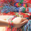ABL0251(100), Bohemian Brazil Cheap Colorful Rainbow Handmade Weave Woven Braided Rope Thin String Strand Friendship Bracelet