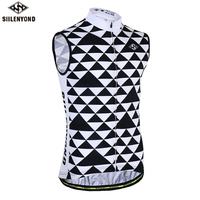 SIILENYOND 2018 Sleeveless Cycling Vest Summer Breathable MTB Bike Jersey Men Bicycle Cloth Ropa Maillot Ciclismo