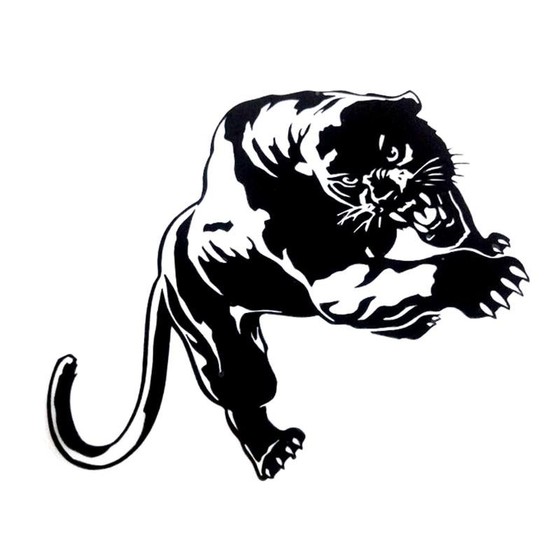 19.5 * 13.6 CM Fiery Wild Panther Hunting Car Body Decal Car Stickers - Exteriör biltillbehör - Foto 3
