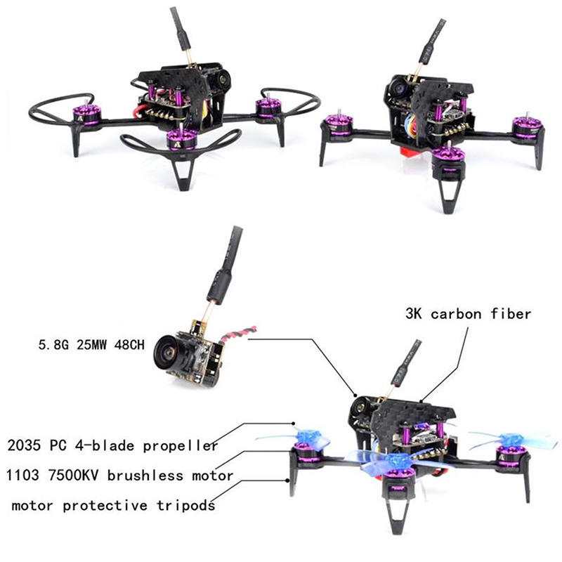 Awesome Q95 95mm 5.8G 48CH 25mW PNP 600TVL Camera FPV With F3 10A Blheli_S 1103-7500KV Motor Outdoor Toys Racing Drone Frame Kit