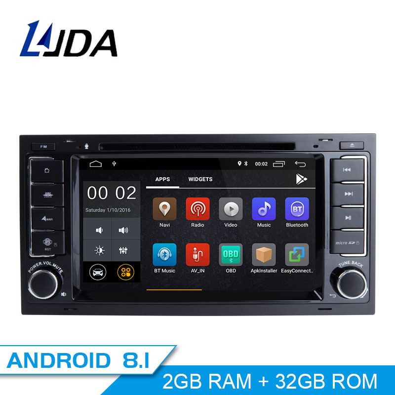 LJDA ANDROID 8.1 Car DVD Player For Volkswagen VW TOUAREG Multivan 2 Din Car Radio GPS Navigation Headunit Stereo Multimedia