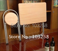 Home exemption assembly High quality steel tube & density board folding table folding Desk + Chair Japanese House Furnishings