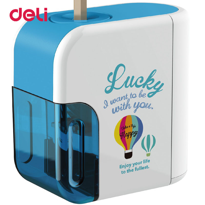 Deli Electric Pencil Sharpener 2018 High Quality Convenient Electric Automatic Battery Operated Desktop Color Pencil Sharpener new deli 0620 life color big heavy quality pencil sharpener metal pencil sharpener