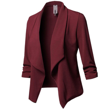 Women Ladies Fashion Suits Autumn Half Sleeve Slim Blazer Office Ladies Plus Siz