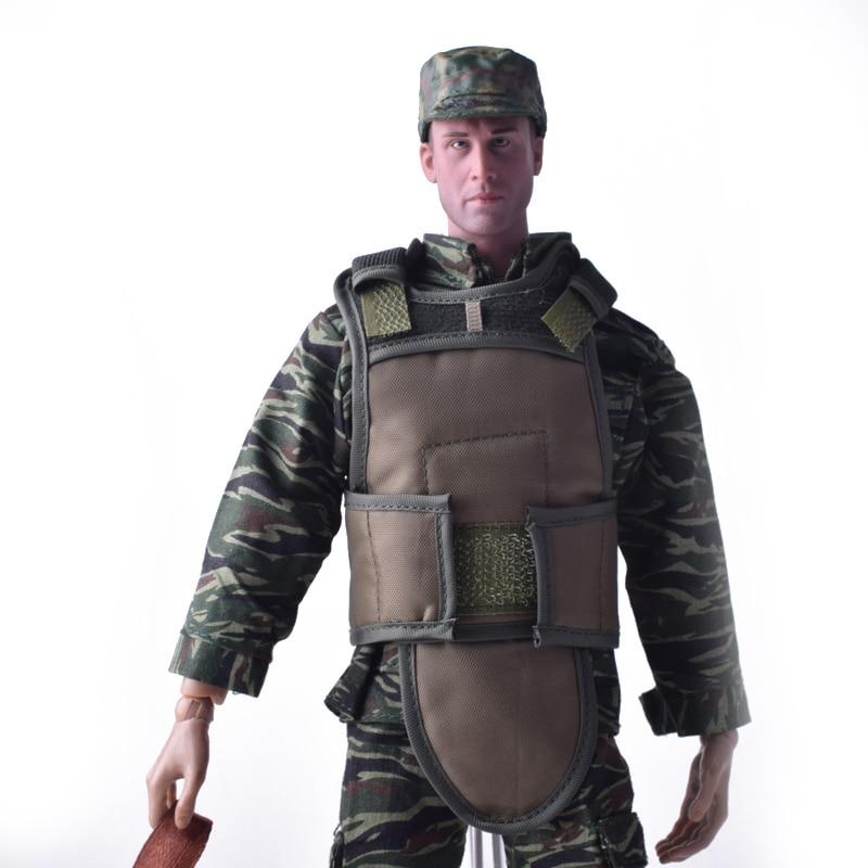 1/6 Scale Tiger Pattern Cam egyenruha + SWAT Tactical Ballistic - Játék figurák
