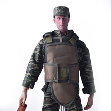 1/6 Ölçekli Kaplan Desen Cam Üniforma Suit + SWAT Taktik Balistik Yelek + Jungle Memur Cap Set Fit 12 Inç Asker Action Figure