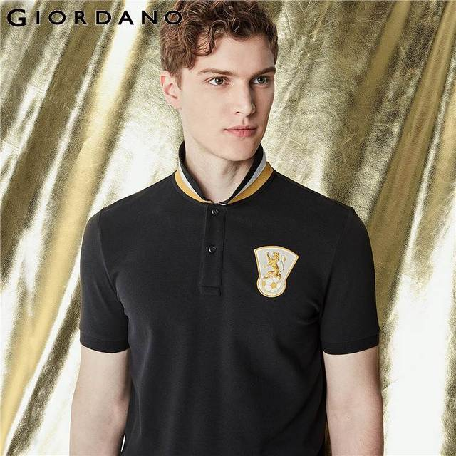 6eedc3926cfe Giordano Men Polo Shirt Embroidery Polo Men Country Pattern Camisa Polo  Masculina 2018 Summer Polo Hombre Cotton Clothing