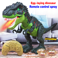 Remote control Kids Walk Sounds Dinosaur Model Toys Large Size Electric Walking Animals Toy with Music Light Spray Gifts For Boy