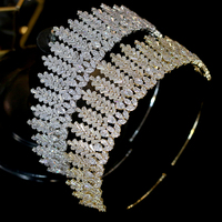 ASNORACubic zirconia bridal wedding tiara crown headband ladies party jewelry accessories